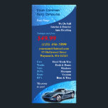 """Auto Detailing Rack Card<br><div class=""""desc"""">If you own a carwash business or you do auto detailing, then this unique water drops rack card is perfect for you! Just simply change the texts to put you and your company&#39;s name, contacts, address... etc. Don't forget that you save a lot when you buy a lot... For example:...</div>"""