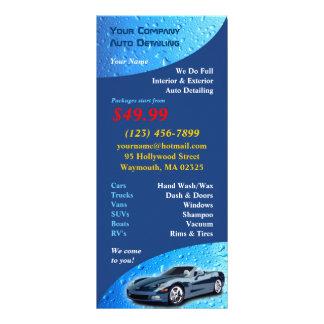 Auto Detailing Rack Card