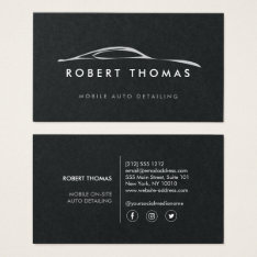 Auto Detailing, Repair On Black Paper Business Card at Zazzle