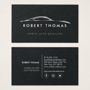 Auto repair business cards templates zazzle auto detailing repair on black paper business card colourmoves