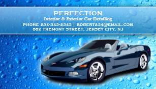 Water business cards templates zazzle auto detailing water drops business card reheart