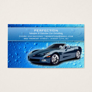 Auto Detailing Water Drops Business Card