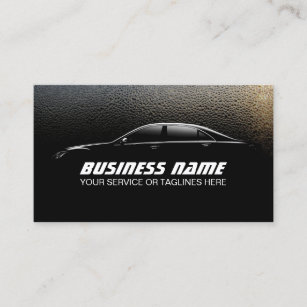 auto detailing water drops professional car business card - Car Detailing Business Cards