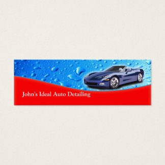 Auto Detailing Water Drops Skinny Business Card