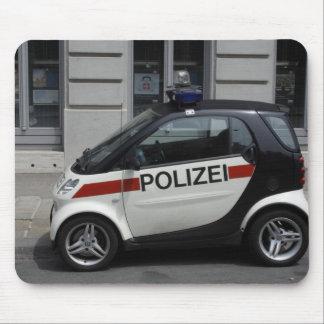 Auto elegante de Polizei Alfombrilla De Ratones