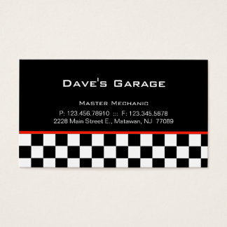 auto garage business card racing - Garagenmietvertrag Muster