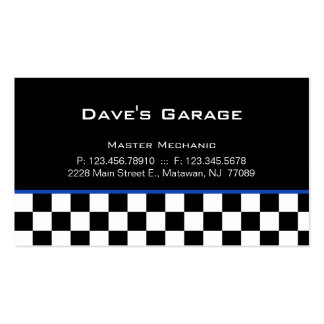 Auto Garage Business Card Racing Blue