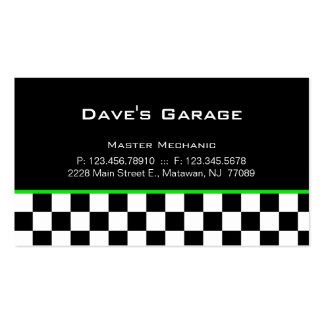 Auto Garage Business Card Racing Green