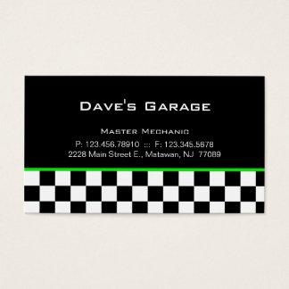 Auto Garage Business Card Racing Green
