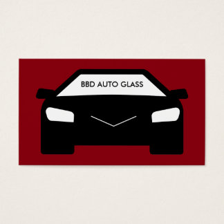 Auto Glass And Tinting Business Card