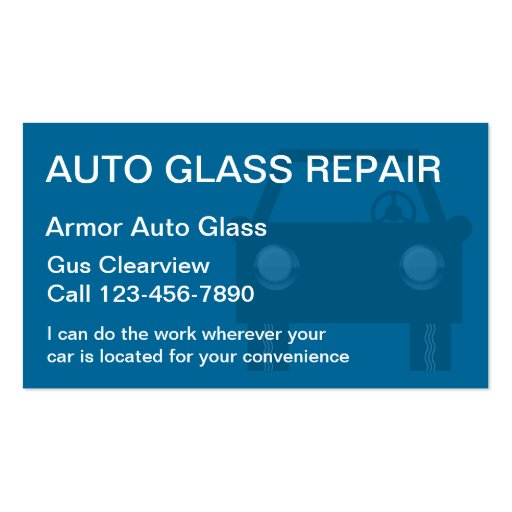 Starting a Windshield Repair Company – Sample Business Plan Template