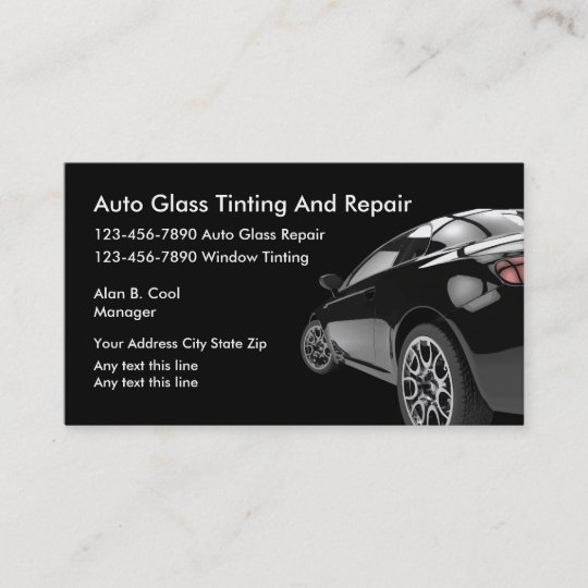 auto glass business cards zazzle com