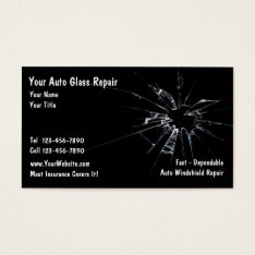 Auto Glass Repair Business Card at Zazzle