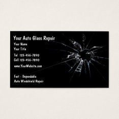 Auto Glass Repair New Business Card at Zazzle