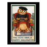 Auto Have a Happy Halloween Postcard