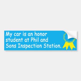 Auto Honor Student Bumper Sticker