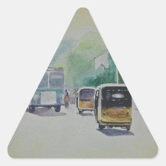 Auto - Indian Taxi Triangle Sticker