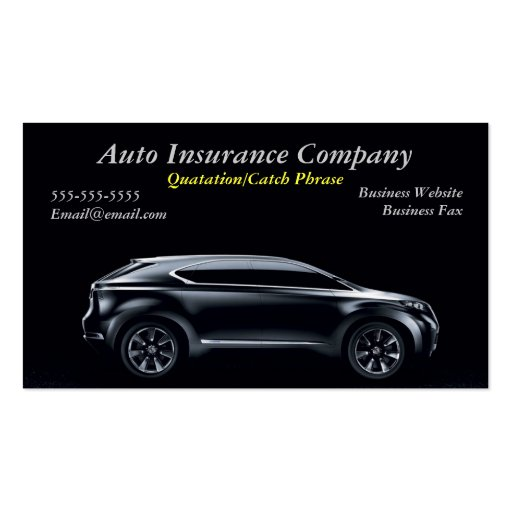 auto insurance business card