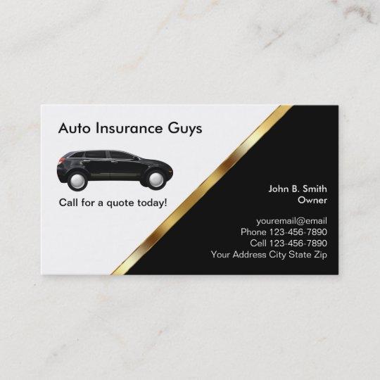 Insurance Car Insurance Business Card