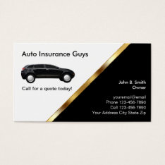 Auto Insurance Business Cards at Zazzle