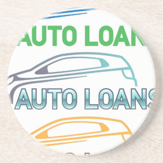 Auto Loan Drink Coaster