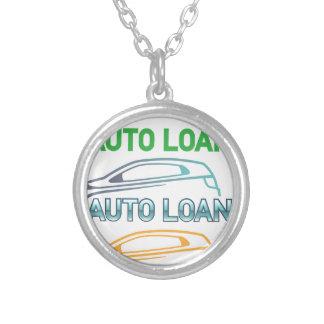 Auto Loan Round Pendant Necklace