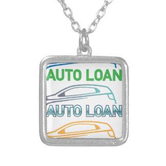 Auto Loan Square Pendant Necklace