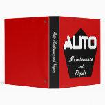 Auto Maintenance and Repair Manual Binders