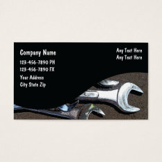 Auto Mechanic Business Cards at Zazzle