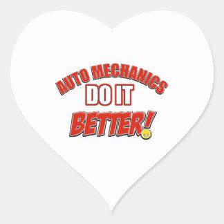Auto Mechanic designs Heart Sticker