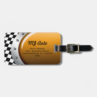Auto Mechanic Racing Checkers Logo Travel Tag Tag For Bags
