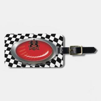 Auto Mechanic Racing Checkers Logo Travel Tag Bag Tags