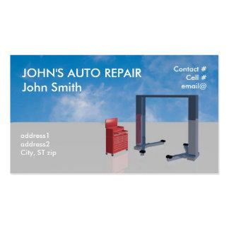 Auto mechanic shop business card