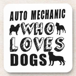 auto mechanic Who Loves Dogs Coaster