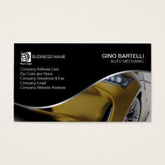 Auto Mechanic Yellow Car Automotive Business Card