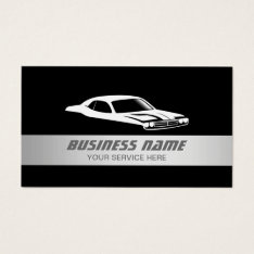 Auto Modern Silver Striped Automotive Car Business Card at Zazzle