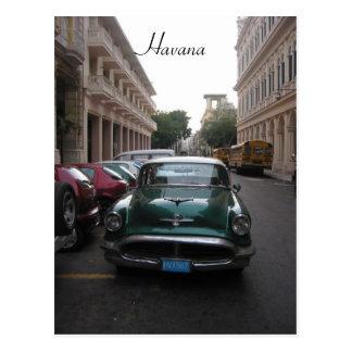 auto old havana postcard