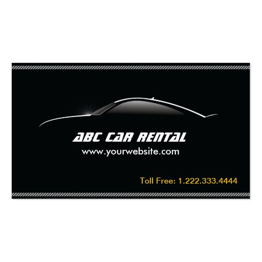 Auto Outline Car Rental/Hire business card