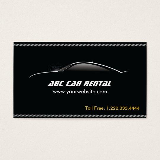Auto Outline Car Rental/Hire business card   Zazzle.com