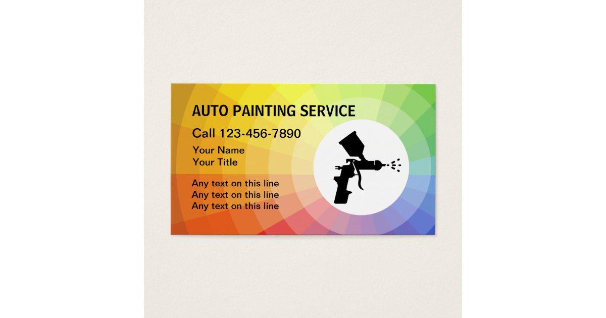 Paint Gun Business Cards & Templates | Zazzle