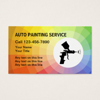 Auto Painting Business Cards