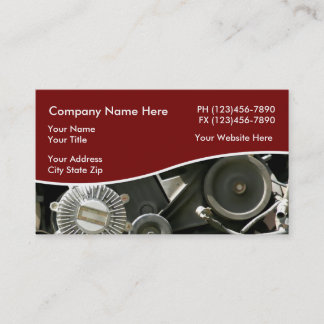Auto Parts And Salvage Yard Business Card