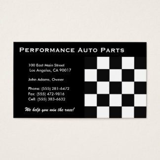Auto Parts B/W Business Card