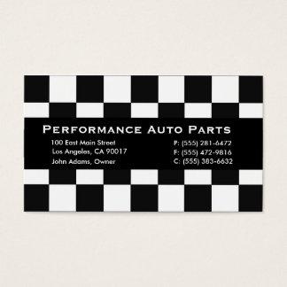 Auto Parts Black Stripe Business Card
