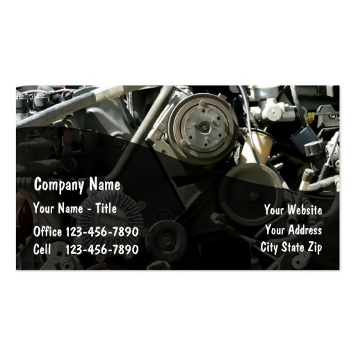 Auto parts business cards zazzle for Auto parts business cards