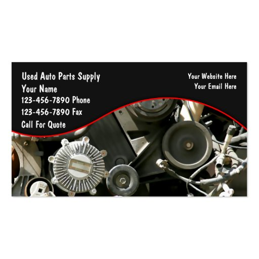 Auto parts salvage business cards zazzle for Auto parts business cards