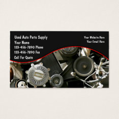 Auto Parts Salvage Business Cards at Zazzle