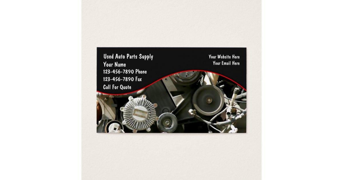 Auto Parts Salvage Business Cards | Zazzle.com