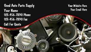 Auto parts business cards zazzle auto parts salvage business cards reheart Gallery
