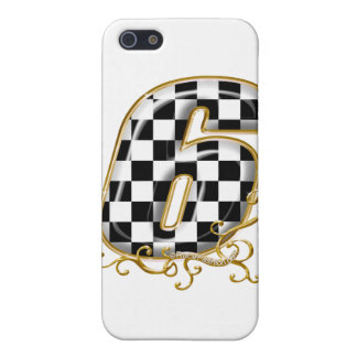 auto racin number 6 with gold accent iPhone SE/5/5s cover